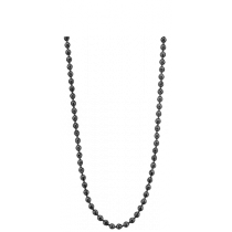 Colgante Necklace 3 MM 925 Silver Black Plated