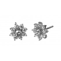 Pendientes 18 diamantes 1,5K - 10,5mm